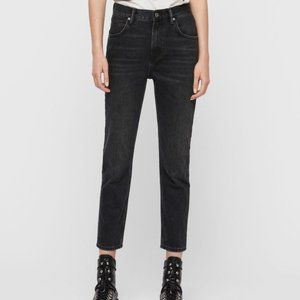 All Saints Brooke Jeans in Washed Black NWT 25